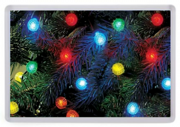 Christmas Tree Lights (Up Close) Fridge Magnet